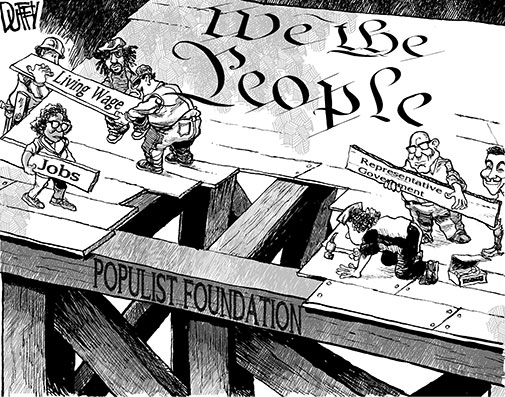populist and progressive era The roots of the progressive movement go back to the short-lived people's party,  also known as the populists, in the u s from 1891 until.
